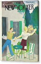 New Yorker Magazine Cover Of A Couple Hiding Acrylic Print