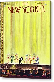 New Yorker Magazine Cover Of A Curtain Call Acrylic Print