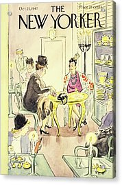New Yorker Magazine Cover Of A Fortune Teller Acrylic Print