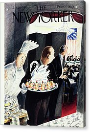 New Yorker Magazine Cover Of An Ice Sculpture Acrylic Print