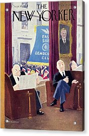 New Yorker Magazine Cover Of Men In A Club Acrylic Print