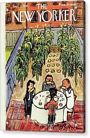 New Yorker Magazine Cover Of People Eating Corn Acrylic Print