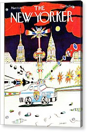 New Yorker March 13th, 1978 Acrylic Print by Saul Steinberg
