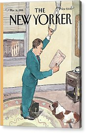 New Yorker March 16th, 1998 Acrylic Print by Barry Blitt