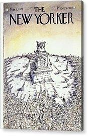 New Yorker March 1st 1976 Acrylic Print by Niculae Asciu
