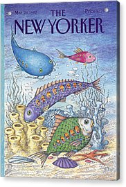New Yorker March 23rd, 1992 Acrylic Print
