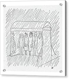 New Yorker March 24th, 1951 Acrylic Print by Saul Steinberg