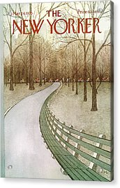 New Yorker March 24th, 1975 Acrylic Print by Charles E. Martin