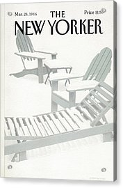 New Yorker March 24th, 1986 Acrylic Print by Gretchen Dow Simpson