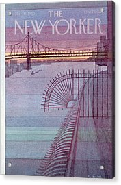 New Yorker March 31st, 1980 Acrylic Print
