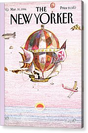 New Yorker March 31st, 1986 Acrylic Print