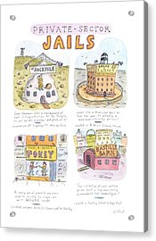 New Yorker March 31st, 1997 Acrylic Print by Roz Chast