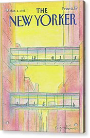 New Yorker March 4th, 1985 Acrylic Print