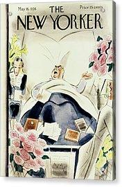 New Yorker May 16 1936 Acrylic Print by Leonard Dove