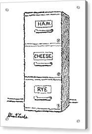 New Yorker May 18th, 1987 Acrylic Print