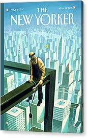 New Yorker May 18th, 2009 Acrylic Print by Eric Drooker