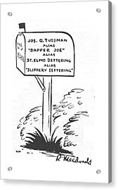 New Yorker May 20th, 1944 Acrylic Print by Roberta Macdonald