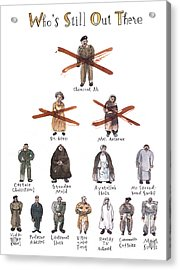 New Yorker May 26th, 2003 Acrylic Print by Barry Blitt