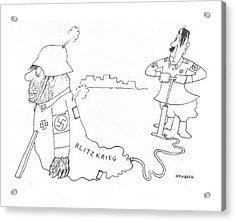 New Yorker May 8th, 1943 Acrylic Print by Saul Steinberg