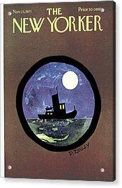 New Yorker November 13th, 1971 Acrylic Print