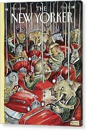 New Yorker November 14th, 1994 Acrylic Print by Edward Sorel
