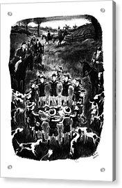 New Yorker November 1st, 1941 Acrylic Print by Richard Decker