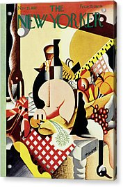 New Yorker November 22 1930 Acrylic Print by Theodore G. Haupt