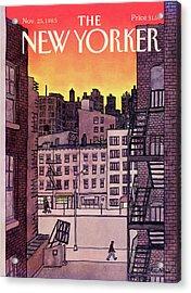New Yorker November 25th, 1985 Acrylic Print