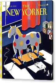 New Yorker November 25th, 1991 Acrylic Print by Kathy Osborn
