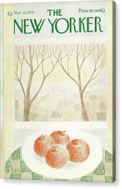 New Yorker November 28th, 1970 Acrylic Print by Charles E. Martin