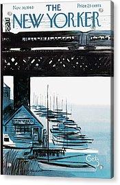 New Yorker November 30th, 1963 Acrylic Print by Arthur Getz