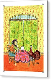 New Yorker November 30th, 1992 Acrylic Print by William Steig