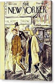 New Yorker November 5 1938 Acrylic Print