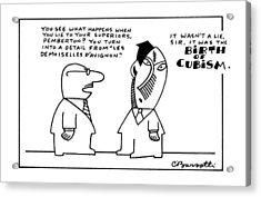 New Yorker October 12th, 1987 Acrylic Print by Charles Barsotti