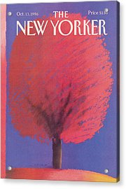 New Yorker October 13th, 1986 Acrylic Print
