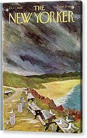 New Yorker October 1st, 1966 Acrylic Print by James Stevenson