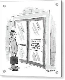 New Yorker October 26th, 1987 Acrylic Print by James Stevenson