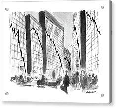 New Yorker October 29th, 1990 Acrylic Print by James Stevenson