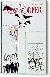 New Yorker October 7th 1972 Acrylic Print by Arthur Getz