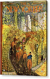 New Yorker October 9th, 1954 Acrylic Print by Ludwig Bemelmans