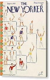 New Yorker September 11th, 1937 Acrylic Print by Constantin Alajalov