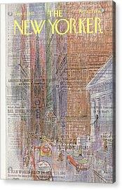 New Yorker September 11th, 1965 Acrylic Print
