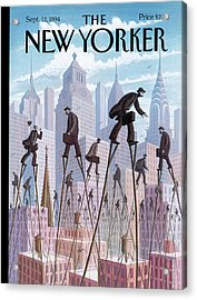 New Yorker September 12th, 1994 Acrylic Print by Eric Drooker