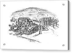 New Yorker September 14th, 1940 Acrylic Print by Alan Dunn