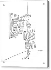 New Yorker September 18th, 1965 Acrylic Print by Saul Steinberg