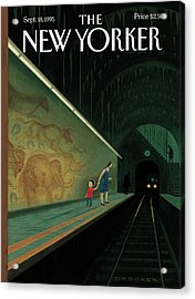 New Yorker September 18th, 1995 Acrylic Print by Eric Drooker