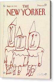 New Yorker September 22nd, 1986 Acrylic Print by Robert Tallon
