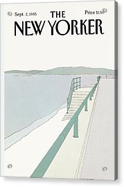 New Yorker September 2nd, 1985 Acrylic Print by Gretchen Dow Simpson