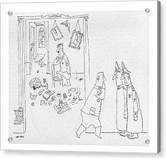 New Yorker September 4th, 1943 Acrylic Print by Saul Steinberg