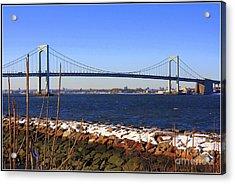 New York's Throgs Neck Bridge Acrylic Print by  Photographic Art and Design by Dora Sofia Caputo